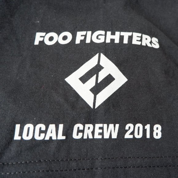 Foo Fighters Tour Shirt - Local Crew Shirt NWOT